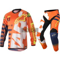 Alpinestars Racer Braap crossruha szett, Gyerek, Orange