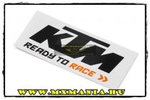 KTM 2017 Logo matrica, Fekete-Fehér