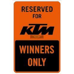 KTM 2018 Parkoló tábla