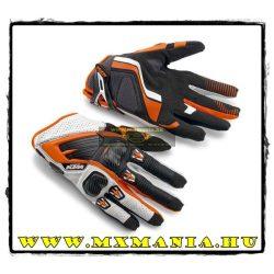 KTM Race utcai kesztyű, Narancs-Fehér-Fekete