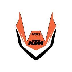 KTM első sárvédő matrica, Factory Effex több féle motorhoz KTM