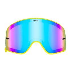 O'neal B50 szemüveg lencse, piros tükrös, sárga kerettel