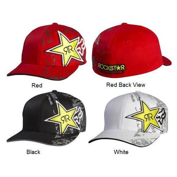 FOX 2016 Flexfit Rockstar Tonic, Piros