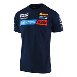 KTM Troy Lee Design Factory Team póló, kék