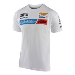 KTM Troy Lee Design Factory Team póló, fehèr