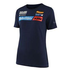 KTM Troy Lee Design Factory Team NŐI póló, kék