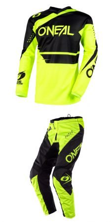O'NEAL ELEMENT RACEWEAR FLUO YELLOW RUHASZETT