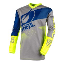 O'NEAL ELEMENT FACTOR GRAY/BLUE/NEON YELLOW MEZ