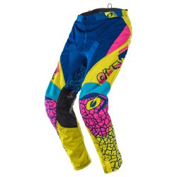 O'NEAL MAYHEM PANTS CRACKLE 91 YELLOW/WHITE/BLUE CROSS NADRÁG