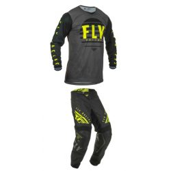 Fly Racing Kinetic K220 Black-fluo motoros ruhaszett