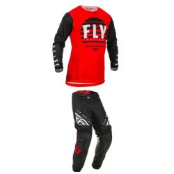 Fly Racing Kinetic K220 Black-red motoros ruhaszett
