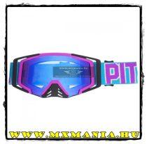 Pitcha SAVAGE cross szemüveg, Lila-Cyan-Kék tükrös