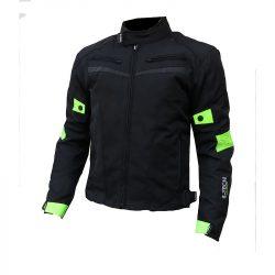 S-Tech 4 season black-fluo motoros kabát, rövid