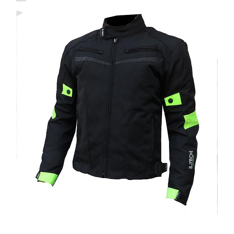 0c2ae0caf5 S-Tech 4 season black-fluo motoros kabát, rövid - Mxmania Monster ...