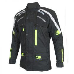 S-Tech Super Touring black-fluo motoros kabát