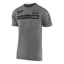 KTM Troy Lee Design Factory Team póló, szürke M méret