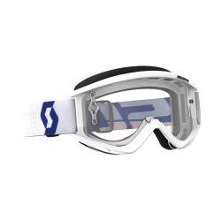 SCOTT Works Recoil Xi fehér cross szemüveg viztiszta lencsével