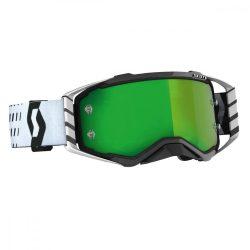Scott Works Prospect cross szemüveg, fehér-fekete, zöld tükrős lencsével