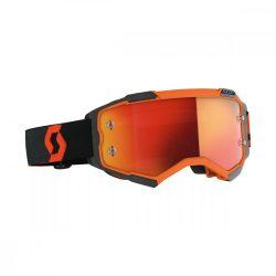 Scott Furry cross szemüveg fekete-narancs tükrős lencsével