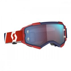 Scott Furry cross szemüveg piros-fekete kék tükrős lencsével
