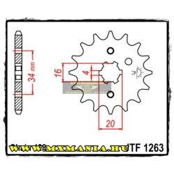 JT Sprockets első lánckerék, 1263, Yamaha/Honda/Suzuki/Malaguti/Betamotor