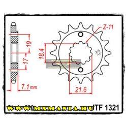 JT Sprockets első lánckerék, 1321, Honda XR/CBF/CRF/NXCB/CBR