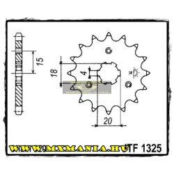 JT Sprockets első lánckerék, 1325, Honda ATC