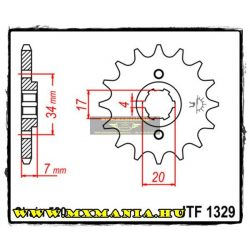 JT Sprockets első lánckerék, 1329, Honda TLR/ATC/CR125