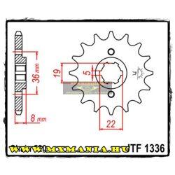JT Sprockets első lánckerék, 1336, Honda ATC/XR