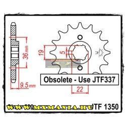 JT Sprockets első lánckerék, 1350, Honda ATV ATC250