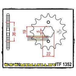 JT Sprockets első lánckerék, 1352, Honda ATC/TRX/TR, ADLY 300 Thunderbike