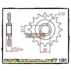 JT Sprockets első lánckerék, 1381, Honda CB-CBR500