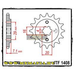 JT Sprockets első lánckerék, 1408, Suzuki TSR200