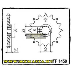 JT Sprockets első lánckerék, 1450, Suzuki LTR 500/RMZ465/RMX465/RM500
