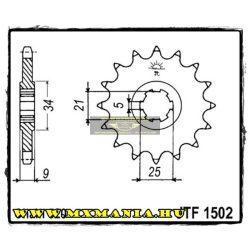 JT Sprockets első lánckerék, 1502, Kawaski KXT 25 1987