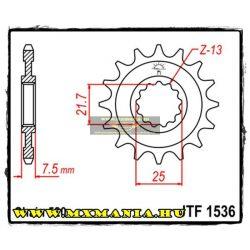 JT Sprockets első lánckerék, 1536, Kawaski KSF/ZX-6R/ZX600-636