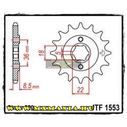 JT Sprockets első lánckerék, 1553, Yamaha SRX250/XT250