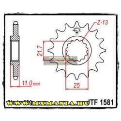 JT Sprockets első lánckerék, 1581, Yamaha FZ-6/YZF-R6/YZF-R7