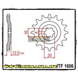 JT Sprockets első lánckerék, 1606, Yamaha AG100