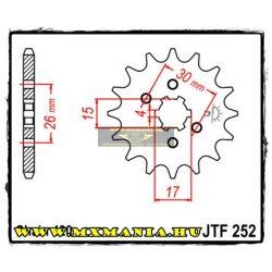 JT Sprockets első lánckerék, 252, Honda Off Road motorokhoz