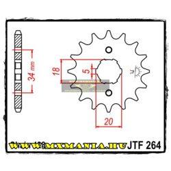 JT Sprockets első lánckerék, 264, Honda utcai, Kymco, Yamaha road