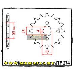 JT Sprockets első lánckerék, 274, Honda CR/XR/XL/C100