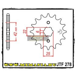 JT Sprockets első lánckerék, 278, Honda CB/CBX/CM