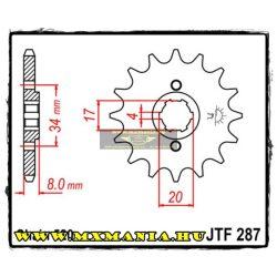 JT Sprockets első lánckerék, 287, Honda XR/CRF/XLR/CA/CB/CD