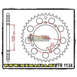 JT Sprockets hátsó lánckerék, 1134, Derbi Road, Malaguti Road, Peugeot Road, Rieju Road, Yamaha Road