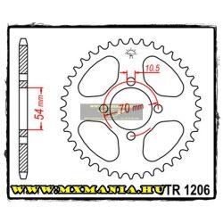 JT Sprockets hátsó lánckerék, 1206, Honda Road CBR125 R, Kymco Road 125 STR
