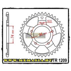 JT Sprockets hátsó lánckerék, 1209, Honda Road NSR250