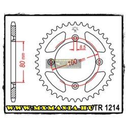 JT Sprockets hátsó lánckerék, 1214, Honda Off Road CR/CRF/XR motorokhoz