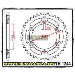 JT Sprockets hátsó lánckerék, 1244, Honda Road VT/VTR250,CBR250