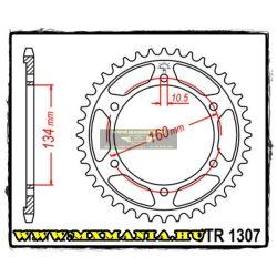 JT Sprockets hátsó lánckerék, 1307, Honda Road CBR600